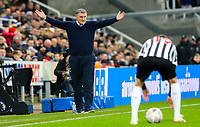 Blackburn Rovers manager Tony Mowbray appeals for a freekick from the technical area<br /> <br /> Photographer Alex Dodd/CameraSport<br /> <br /> Emirates FA Cup Third Round - Newcastle United v Blackburn Rovers - Saturday 5th January 2019 - St James' Park - Newcastle<br />  <br /> World Copyright © 2019 CameraSport. All rights reserved. 43 Linden Ave. Countesthorpe. Leicester. England. LE8 5PG - Tel: +44 (0) 116 277 4147 - admin@camerasport.com - www.camerasport.com