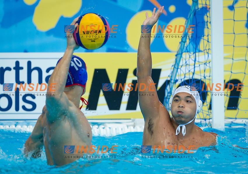 CHN-RUS<br /> China - Russia<br /> LI Li CHN<br /> KHOLOD Dmitrii RUS<br /> Day 10 02/08/2015<br /> XVI FINA World Championships Aquatics<br /> Waterpolo<br /> Kazan Tatarstan RUS July 24 - Aug. 9 2015 <br /> Photo Pasquale Mesiano/Deepbluemedia/Insidefoto