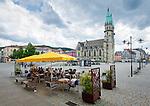 Germany; Free State of Thuringia, Meiningen: market square with town church | Deutschland, Freistaat Thueringen, Meiningen: Marktplatz mit evangelischer Stadtkirche Unserer Lieben Frauen