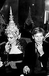 PALOMA PICASSO CON HELMUT BERGER<br /> PREMIO THE BEST PALAZZO PECCI BLUNT<br /> ROMA 1978