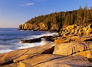 Otter Cliff at Acadia National Park on Mount Desert Island in Maine. Acadia National Park was the first established national park east of the Mississippi River.