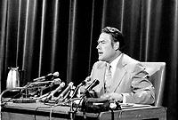 Le Ministre de la Justice Jerome Choquette,  avril 1973, <br /> Date exacte inconnue<br /> <br /> <br /> PHOTO : Agence Quebec Presse - Alain Renaud