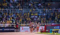 4th July 2021; Stockholm Olympic Stadium, Stockholm, Sweden; Diamond League Grand Prix Athletics, Bauhaus Gala; The start of the Women's 800m race