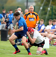 Saturday 4th September 20218 <br /> <br /> XXXX during U18 Clubs inter-pro between Ulster Rugby and Leinster at Newforge Country Club, Belfast, Northern Ireland. Photo by John Dickson/Dicksondigital