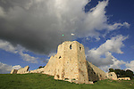 Israel, Sharon region. Ottoman fortress Binar Bashi was built in 1571 on Tel Afek, the location of the Roman city Antipatris built by King Herod