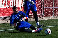 Spainsh Sergio Asenjo during the training of the spanish national football team in the city of football of Las Rozas in Madrid, Spain. November 10, 2016. (ALTERPHOTOS/Rodrigo Jimenez) ///NORTEPHOTO.COM