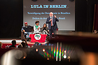 """Der ehemalige Praesident Brasiliens, Luiz Inacio Lula da Silva sprach am Dienstag den 10. Maerz 2020 in Berlin auf einer Veranstaltung der Friedrich Ebert Stiftung und der Gewerkschaft IG Metall vor ca. 600 Menschen. <br /> Sein Thema war """"Verteidigung der Demokratie in Brasilien"""".<br /> 10.3.2020, Berlin<br /> Copyright: Christian-Ditsch.de<br /> [NUR FUER REDAKTIONELLE ZWECKE! Werbung nur auf Anfrage beim Fotografen. Inhaltsveraendernde Manipulation des Fotos nur nach ausdruecklicher Genehmigung des Fotografen. Vereinbarungen ueber Abtretung von Persoenlichkeitsrechten/Model Release der abgebildeten Person/Personen liegen nicht vor. NO MODEL RELEASE! Don't publish without copyright Christian-Ditsch.de, Veroeffentlichung nur mit Fotografennennung, sowie gegen Honorar, MwSt. und Beleg. Konto: I N G - D i B a, IBAN DE58500105175400192269, BIC INGDDEFFXXX, Kontakt: post@christian-ditsch.de<br /> Bei der Bearbeitung der Dateiinformationen darf die Urheberkennzeichnung in den EXIF- und  IPTC-Daten nicht entfernt werden, diese sind in digitalen Medien nach §95c UrhG rechtlich geschuetzt. Der Urhebervermerk wird gemaess §13 UrhG verlangt.]"""