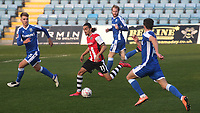 Randell Williams of Exeter City takes on the Gillingham defence during Gillingham vs Exeter City, Emirates FA Cup Football at the MEMS Priestfield Stadium on 28th November 2020