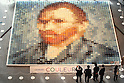 Van Gogh Mosaic made out of 2070 polo shirts