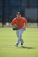Houston Astros Patrick Mathis (51) during practice before a Minor League Spring Training Intrasquad game on March 28, 2018 at FITTEAM Ballpark of the Palm Beaches in West Palm Beach, Florida.  (Mike Janes/Four Seam Images)