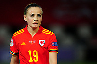 Lilly Woodham of Wales Women's during the UEFA Women's EURO 2022 Qualifier match between Wales Women and Faroe Islands Women at Rodney Parade in Newport, Wales, UK. Thursday 22 October 2020