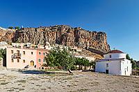 Panagia Chrisafitissa church in the Byzantine castle-town of Monemvasia in Greece