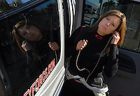 Jan 21, 2007; Las Vegas, NV, USA; NHRA Funny Car driver Ashley Force during preseason testing at The Strip at Las Vegas Motor Speedway in Las Vegas, NV. Mandatory Credit: Mark J. Rebilas
