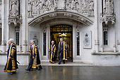 Supreme Court judges walk from the court to Westminster Abbey, London, for a service marking the beginning of the legal year.