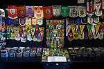 Witton Albion 1 Warrington Town 2, 26/12/2017. Wincham Park, Northern Premier League. A display of souvenirs at a small museum dedicated to non-League football at Wincham Park, home of Witton Albion, pictured before their Northern Premier League premier division fixture with Warrington Town. Formed in 1887, the home team have played at their current ground since 1989 having relocated from the Central Ground in Northwich. With both team chasing play-off spots, the visitors emerged with a 2-1 victory, the winner being scored by Tony Gray in second half injury time, watched by a crowd of 503. Photo by Colin McPherson.