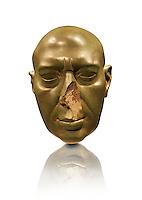 "Ancient Egyptian Statue the "" Berlin Green Man "". / Berliner Grüner Kopf. / Egypt 30.  Dynasty  (350 BC) Berlin Neues Museum Cat No: AM 12500."