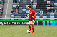SAINT PAUL, MN - MAY 15: Ryan Hollingshead #12 of FC Dallas with the ball during a game between FC Dallas and Minnesota United FC at Allianz Field on May 15, 2021 in Saint Paul, Minnesota.