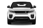 Car photography straight front view of a 2017 Land Rover Range-Rover-Evoque HSE-Dynamic 2 Door SUV Front View