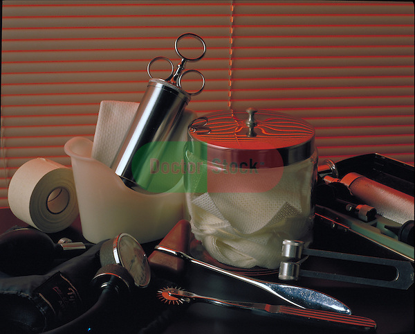 Medical instruments in doctor's office
