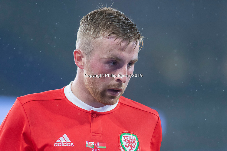Cardiff - UK - 9th September :<br />Wales v Belarus Friendly match at Cardiff City Stadium.<br />Joe Morrell of Wales.<br />Editorial use only