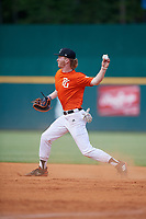 James McCracken (21) of Middle Tennessee Christian School in Murfreesboro, TN during the Perfect Game National Showcase at Hoover Metropolitan Stadium on June 18, 2020 in Hoover, Alabama. (Mike Janes/Four Seam Images)