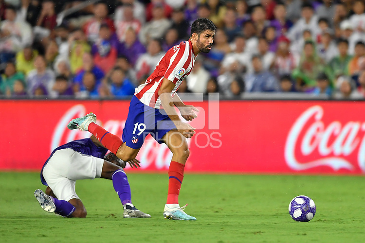 Orlando, FL - Wednesday July 31, 2019:  Diego Costa #19 during the Major League Soccer (MLS) All-Star match between the MLS All-Stars and Atletico Madrid at Exploria Stadium.