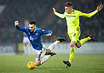St Johnstone v Hibernian…27.02.19…  McDiarmid Park    SPFL<br />Tony Watt is brought down by Vykintas Slivka who was shown a second yellow card and sent off<br />Picture by Graeme Hart. <br />Copyright Perthshire Picture Agency<br />Tel: 01738 623350  Mobile: 07990 594431