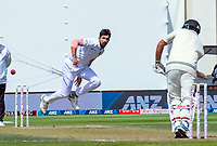 Ishant Sharma bowls during day three of the International Test Cricket match between the New Zealand Black Caps and India at the Basin Reserve in Wellington, New Zealand on Sunday, 23 February 2020. Photo: Dave Lintott / lintottphoto.co.nz