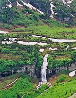 Florence Falls. Glacier National Park, Montana.