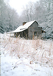 Bud Ogle Cabin, Snow, Great Smoky Mountains National Park, TN