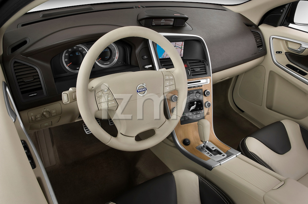 High angle dashboard view of a 2009 Volvo XC 60