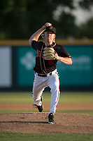 Modesto Nuts starting pitcher Darren McCaughan (16) delivers a pitch to the plate during a California League game against the Lake Elsinore Storm at John Thurman Field on May 11, 2018 in Modesto, California. Modesto defeated Lake Elsinore 3-1. (Zachary Lucy/Four Seam Images)