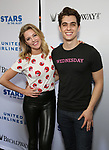 Taylor Louderman and Kyle Selig attends the United Airlines Presents: #StarsInTheAlley Produced By The Broadway League on June 1, 2018 in New York City.