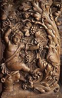Europe/France/Limousin/23/Creuse/Moutier-d'Ahun: Eglise - Boiseries 1673-1681 - Détail d'un jouet