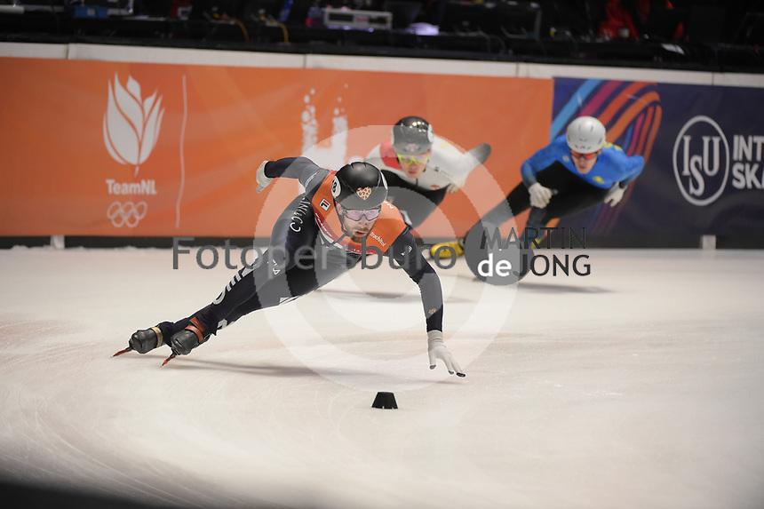SPEEDSKATING: DORDRECHT: 06-03-2021, ISU World Short Track Speedskating Championships, SF 5000m Men, Daan Breeuwsma (NED), ©photo Martin de Jong