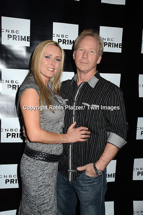 """Perry Barndt  and wife Sherry attends the CNBC Launch Event for their new primetime shows on February 28, 2013 at Classic Car Club Manhattan in New York City. The two new shows are .""""Treasure Detectives"""" and """"The Car Chasers"""" which will be shown on Tuesday nights."""
