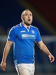 St Johnstone v Motherwell....25.02.14    SPFL<br /> Lee Croft<br /> Picture by Graeme Hart.<br /> Copyright Perthshire Picture Agency<br /> Tel: 01738 623350  Mobile: 07990 594431