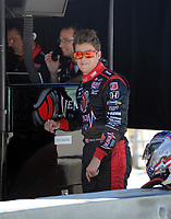 HOMESTEAD, FL - OCTOBER 01: Marco Andretti, driver of the #26 Team Venom Energy Dallara Honda prepares to drive during qualifying for the IZOD IndyCar Series Cafes do Brasil Indy 300 at Homestead-Miami Speedway on October 1, 2010 in Homestead, Florida.<br /> <br /> <br /> People:  Marco Andretti