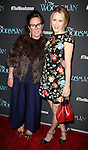 Kate Spade and Rachel Brosnahan attends the Off-Broadway Opening Night Performance of 'The Woodsman' at The New World Stages on February 8, 2016 in New York City.