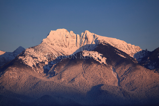 Mission Mountains in winter