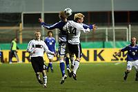 Patrick Funk (Stuttgart) im Duell<br /> Deutschland vs. Finnland, U19-Junioren<br /> *** Local Caption *** Foto ist honorarpflichtig! zzgl. gesetzl. MwSt. Auf Anfrage in hoeherer Qualitaet/Aufloesung. Belegexemplar an: Marc Schueler, Am Ziegelfalltor 4, 64625 Bensheim, Tel. +49 (0) 151 11 65 49 88, www.gameday-mediaservices.de. Email: marc.schueler@gameday-mediaservices.de, Bankverbindung: Volksbank Bergstrasse, Kto.: 151297, BLZ: 50960101