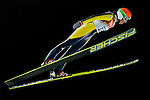 Eva Logar of Slovenia compete during the Ski Jumping Ladies' Normal Hill Individual as part of the 2014 Sochi Olympic Winter Games at RusSki Gorki Jumping Center on February 11, 2014 in Sochi, Russia. Photo by Victor Fraile / Power Sport Images