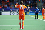 The Hague, Netherlands, June 15: Seve van Ass #25 of The Netherlands gestures during the field hockey gold match (Men) between Australia and The Netherlands on June 15, 2014 during the World Cup 2014 at Kyocera Stadium in The Hague, Netherlands. Final score 6-1 (2-1)  (Photo by Dirk Markgraf / www.265-images.com) *** Local caption ***
