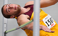 Minnesota's Jack Szmanda eyes the bar while competing in the high jump April 21, 2010 in the Drake Relays decathlon at Drake Stadium in Des Moines, Iowa.
