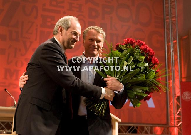 Nijmegen 250410 Wouter Bos neemt afscheid van de PvdA<br /> Foto Frans Ypma APA-foto