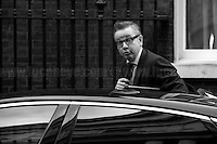 """Lord Chancellor and Secretary of State for Justice Michael Gove MP (Photo from the Archive)...<br /> <br /> London, March-July 2016. Reporting the EU Referendum 2016 (Campaign, result and outcomes) observed through the eyes (and the lenses) of an Italian freelance photojournalist (UK and IFJ Press Cards holder) based in the British Capital with no """"press accreditation"""" and no timetable of the main political parties' events in support of the RemaIN Campaign or the Leave the EU Campaign. <br /> On the 23rd of June 2016 the British people voted in the EU Referendum (Turnout 72.2%): 51,9% to leave the EU (17,410,742 Votes) versus 48,1% to remain in the EU (16,141,241 Votes). On the morning of 24th June the British Prime Minister David Cameron gave a speech outside 10 Downing Street in which he announced the EU Referendum results and his formal resignation within 3 months. Cameron's decision triggered a leadership race in the Conservative Party between the Home Secretary Theresa May MP (who backed Remain in the EU Referendum) and the Lord Chancellor and Secretary of State for Justice Michael Gove MP (who backed Leave in the EU Referendum). On 30th of June, the former Mayor of London and major figure in the Leave Campaign, Boris Johnson MP, surprisingly withdrew from the leadership contest. The new leader of the Conservative Party will succeed David Cameron as the new British Prime Minister. In the meantime, inside the Labour Party a 'battle with no holds barred' began between MPs who support the Labour Leader Jeremy Corbyn and a sizeable faction of the Party that wants to oust him – of which many are so-called Blairites – politically aligned with the former Prime Minister Tony Blair. <br /> On July 2nd, more than 60 thousand people marched peacefully from Park Lane to Parliament Square to protest against the EU Referendum result which is leading the United Kingdom to the so called """"Brexit"""", in other words to leave the European Union.<br /> On 13 of July, the former Secre"""