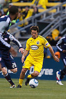 8 MAY 2010:  Guillermo Barros Schelotto of the Columbus Crew (7) during MLS soccer game between New England Revolution vs Columbus Crew at Crew Stadium in Columbus, Ohio on May 8, 2010. The Columbus defeated New England 3-2.