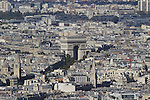 View of Arc de Triomphe from the Montparnasse building and observatory, Paris, France. .  John offers private photo tours in Denver, Boulder and throughout Colorado, USA.  Year-round. .  John offers private photo tours in Denver, Boulder and throughout Colorado. Year-round.