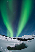 Aurora borealis over the Koyukuk River basin in the Brooks Range, Alaska