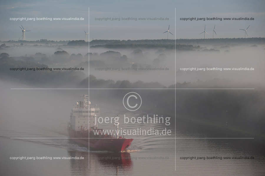 Germany , ship in Kiel canal going from North sea to Baltic Sea